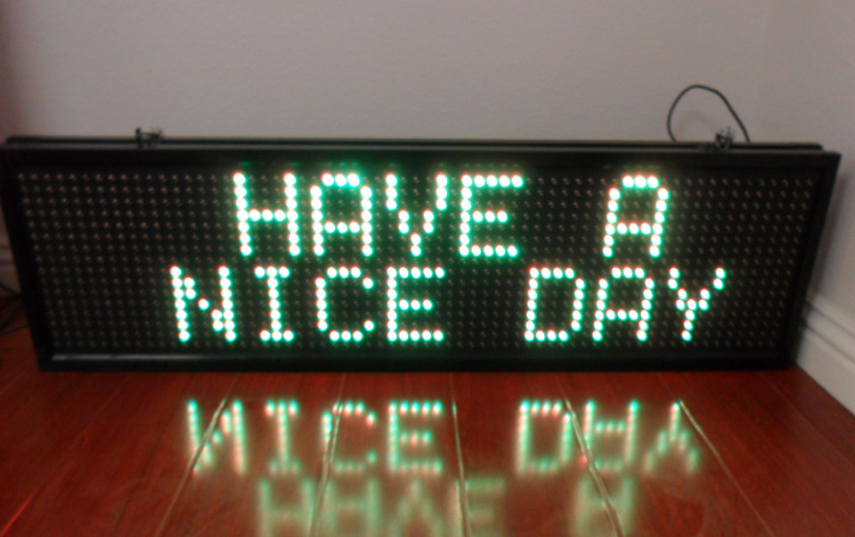 Message Board Led Programmable Je P17 Series Led